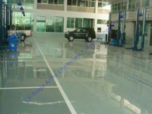 epoxy lantai dan cat epoxy pada showroom