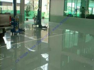 hasil aplikasi epoxy lantai dan cat epoxy