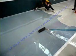 cat lantai epoxy unruk showroom