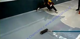 cat lantai epoxy unruk showroom